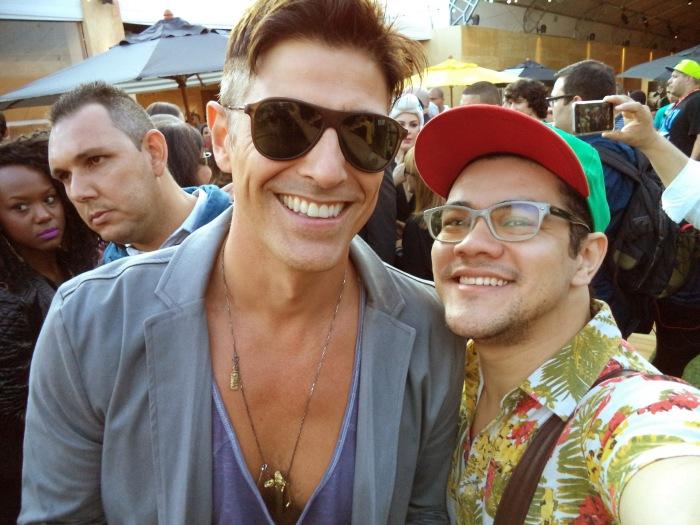 Selfie com Gianechini. E foi ele quem pediu haha